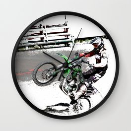 Making a Stand - Freestyle Motocross Rider Wall Clock