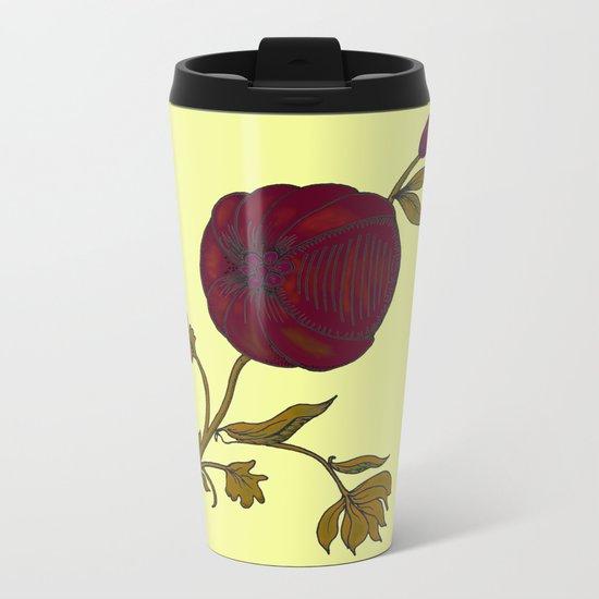 simple decorative pomegranate 3 Metal Travel Mug