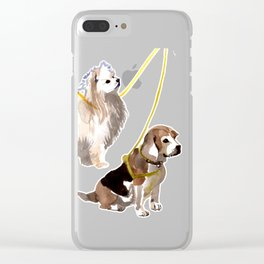 watercolor dog vol4 eskimo and beagle Clear iPhone Case