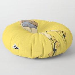 Batwing Girl Floor Pillow