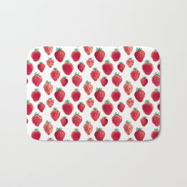 strawberry field pixels Bath Mat