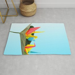 Fly with Origami. Rug
