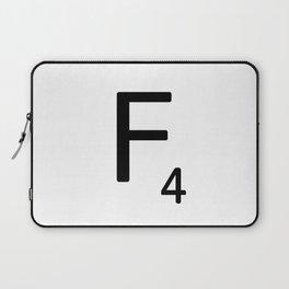 Letter F - Custom Scrabble Letter Tile Art - Scrabble F Laptop Sleeve