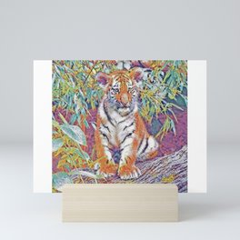 Tiger Cub Pop Art | Oil Painting Mini Art Print