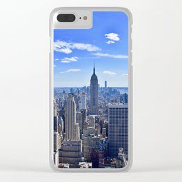 City skyline and Empire State Building Clear iPhone Case