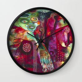 """True Nature"" Original Painting by Flora Bowley Wall Clock"