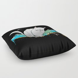 Flat Earth Cat Floor Pillow