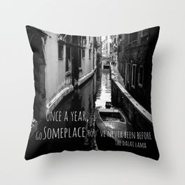 Venice - Travel Someplace New Throw Pillow