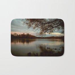 Subdued Sunset on the Sacramento River Bath Mat