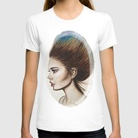 ombre T-shirts featuring Ombre Hair by Halinka H