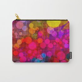 Rainbow Bubbles Abstract Design Carry-All Pouch
