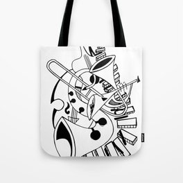 Musical Instruments Doodle Tote Bag