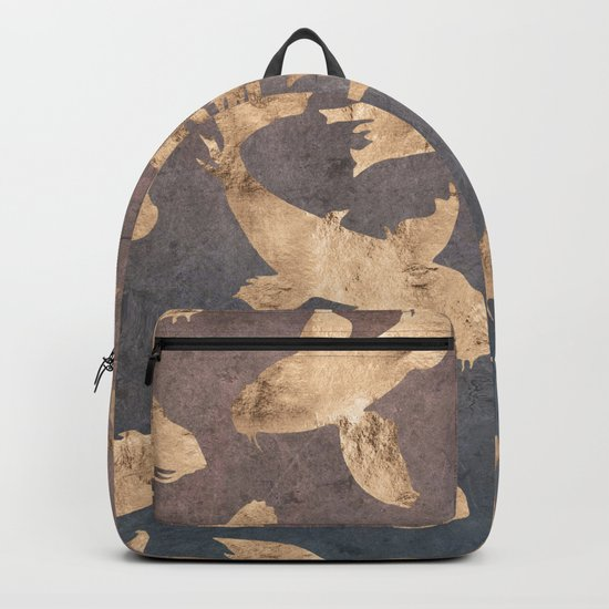 Koi at dusk - scratched leather Backpack