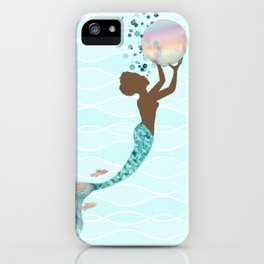 Beautiful Black Mermaid iPhone Case