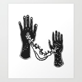 Joined Hands Art Print