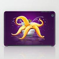 toilet iPad Cases featuring OCTOPUS / TOILET by shttefan