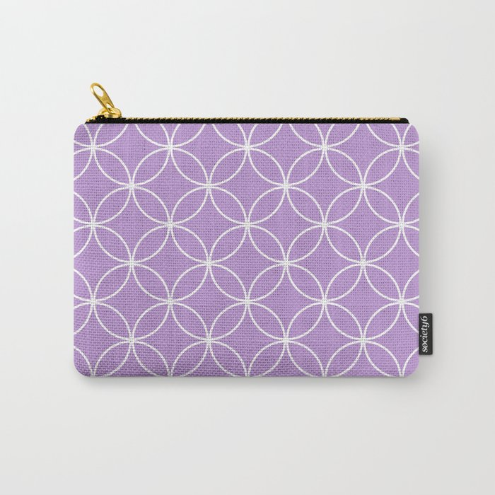 Crossing Circles - Periwinkle Purple Carry-All Pouch