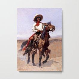"Frederic Remington Western Art ""A Regimental Scout"" Metal Print"