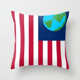 Old Freebie - Earth's Flag Throw Pillow