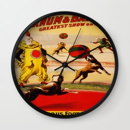 Vintage poster - Circus Wall Clock
