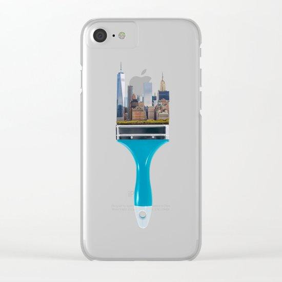 NEW YORK CITYBRUSH Clear iPhone Case