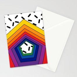 Rainbow Pentagon Stationery Cards
