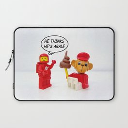 "space lego meeting the ""arale wannabe"" monkey Laptop Sleeve"
