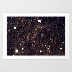 Snow talk 3 Art Print