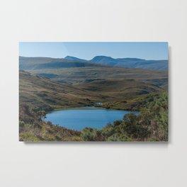 Typical Scottish Highlands landscape - Highlands, Scotland, UK Metal Print