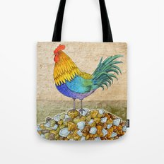 The Cockerel and The Jewel Tote Bag