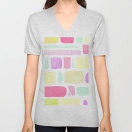 Blotches of Color Unisex V-Neck