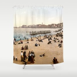 The harbour, Margate, Kent, England, ca. 1897 Shower Curtain
