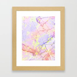 Irridescent Marble - Pink, Purple and green Framed Art Print