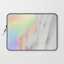 Unicorn Texture on Carrara Italian Marble Laptop Sleeve