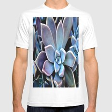 succulent plant Mens Fitted Tee White MEDIUM