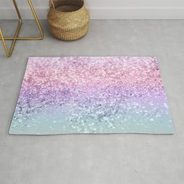 Unicorn Girls Glitter #1 #shiny #pastel #decor #art #society6 Rug