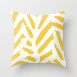 Coral in yellow Throw Pillow
