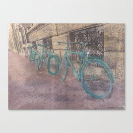 Three Bikes Canvas Print