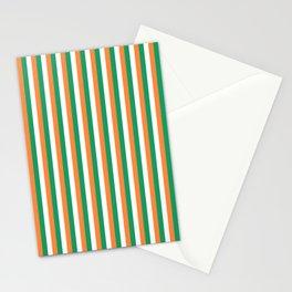 Irish Tricolour Vertical Stripes Green Orange and White Irish Flag Stationery Cards