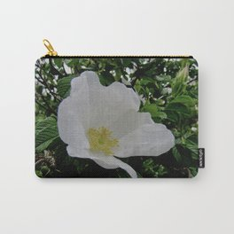 Wild White Rose in Full Bloom Carry-All Pouch