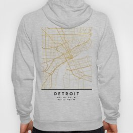 DETROIT MICHIGAN CITY STREET MAP ART Hoody