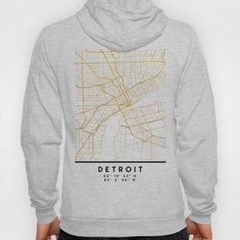 DETROIT MICHIGAN CITY STREET MAP ART Hoody