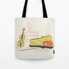 Cat & Violin Tote Bag