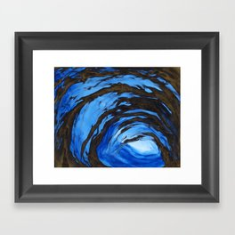 Sapphire Rage Framed Art Print