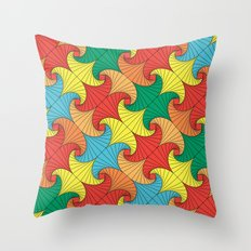 Dancing squares Throw Pillow