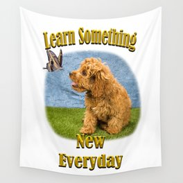 Learn something new everyday Wall Tapestry
