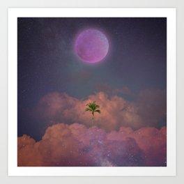 Diamond moon Art Print