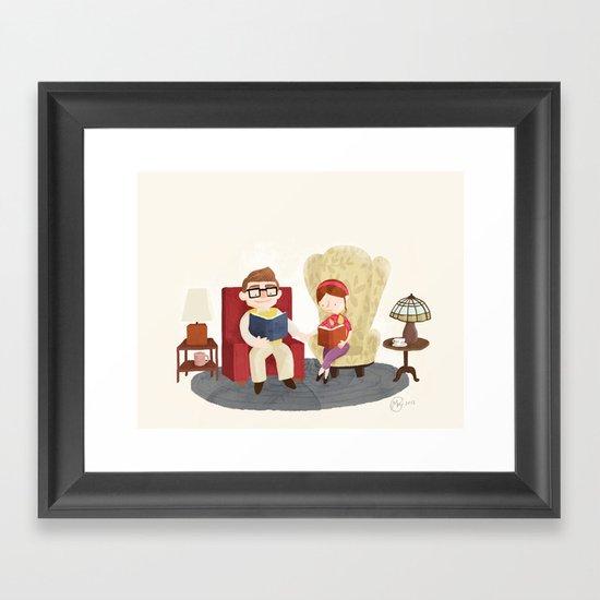 Carl and Ellie (from Pixar's 'Up') Framed Art Print