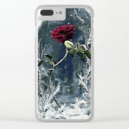 Beauty and the Beast Rose Clear iPhone Case