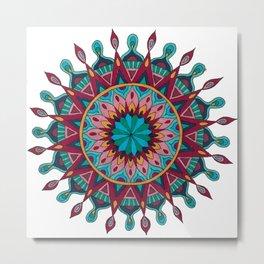 Heart and Soul Mandala Metal Print